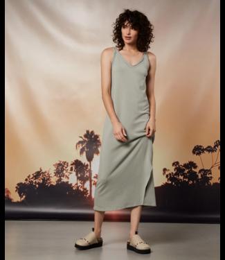 10Days Strappy dress fleece groen 20-301-1202