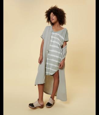 10Days Dress tie dye groen 20-304-1202