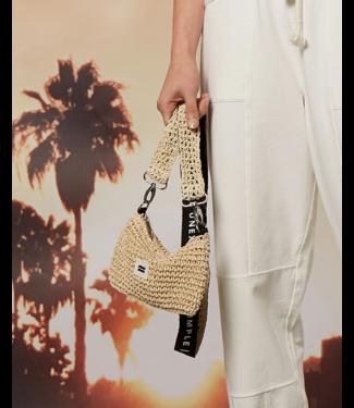 10Days Mini pouch straw off white 20-963-1202