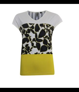 Poools T-shirt mix geel 023137