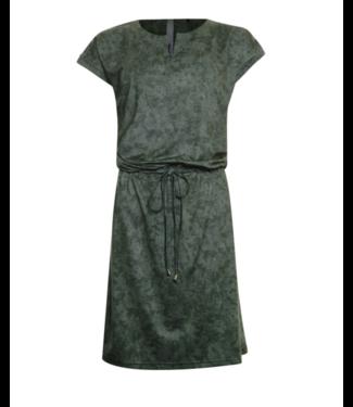 Poools Dress drawstring groen 023113