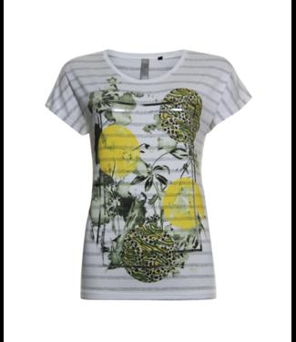Poools T-shirt stripe off white 023106