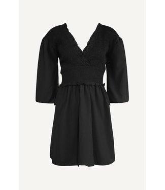 NA-KD Smocked mini dress zwart 1018-006781