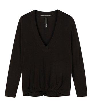 10Days Soft v-neck tee zwart 20-774-1201