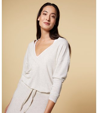 10Days Soft v-neck tee off white 20-774-1201