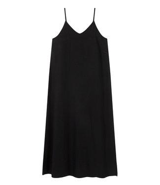 10Days Strappy dress fleece zwart 20-306-1201