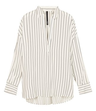 10Days Blouse pinstripe wit 20-401-1201