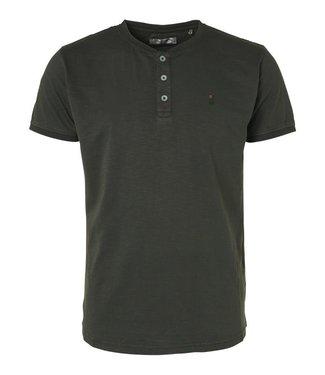 No Excess T-Shirt s/sl, Granddad, garm dyed s blue Print 96350401