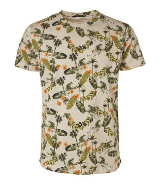 No Excess T-Shirt s/sl, R-neck, cold dyed ao olive 96350416