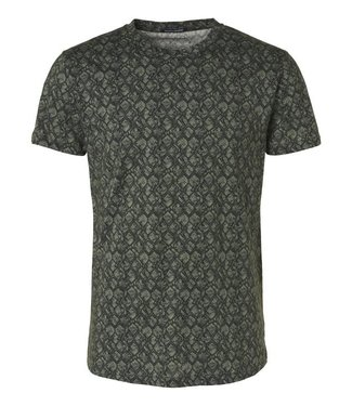 No Excess T-Shirt s/sl, R-neck, Melange, AO d olive 96360402