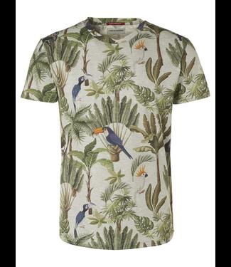No Excess T-Shirt s/sl, R-neck, Melange, AO d offwhite 96360403