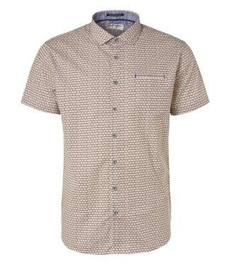 No Excess Shirt, s/sl, ao circle printed, str Papaya 96440415