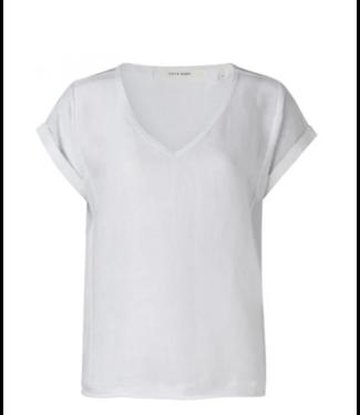 Yaya Linen fabric mix top **00 1901288-114
