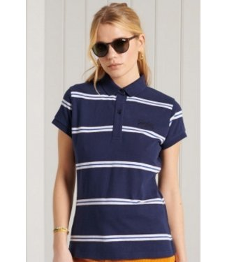 Superdry Academy polo donkerblauw W6010843A