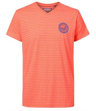 Petrol Industries Men t-shirt ss v-neck oranje M-2010-TSV704