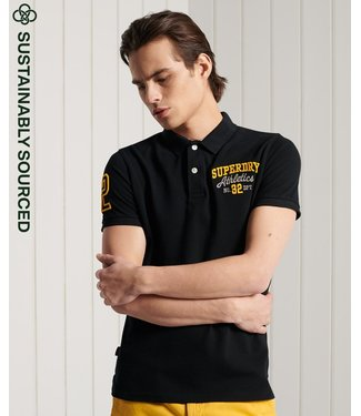 Superdry Classic superstate ss polo zwart M1110008A