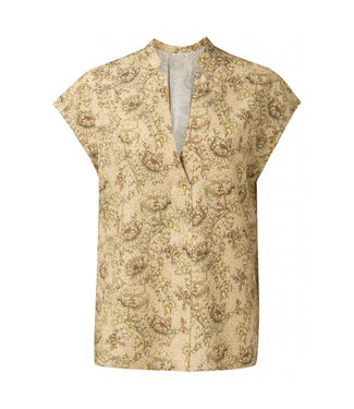 Yaya Printed v-neck top **00 1901437-115
