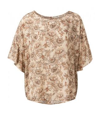 Yaya Printed top with ruffles **00 1901441-115