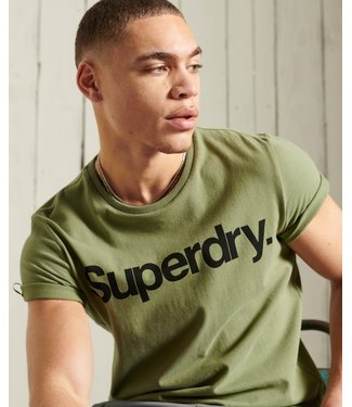 Superdry Military graphic tee groen M1010850A