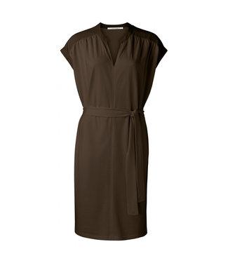 Yaya Fabric mix dress with v-neck **00 1809329-115