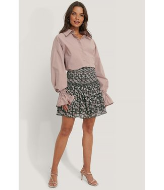 NA-KD Mini structured smocked skirt zwart 1014-000940