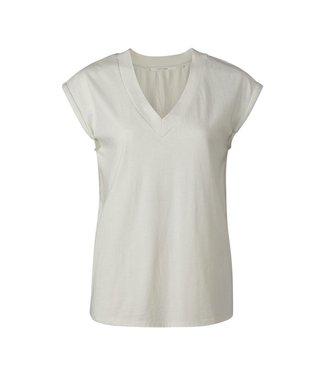 Yaya V-neck T-shirt padded sleeves **00 1919133-120