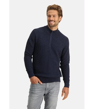 State of Art Pullover Sportzip Pl donkerblauw 13120136