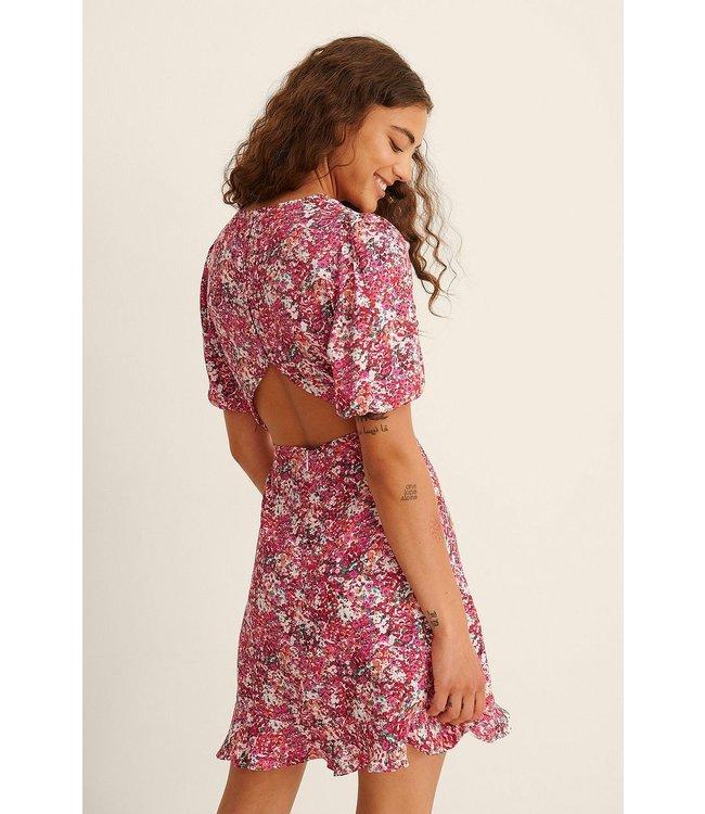 NA-KD Short sleeve open back roze 1100-003574