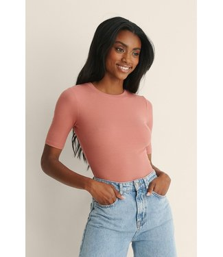 NA-KD Recycled round neck top roze 1044-000144