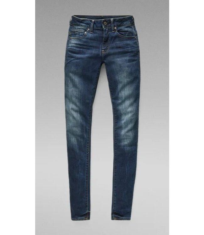 G-Star Midge zip mid skinny wmn blauw D05281-6553-89