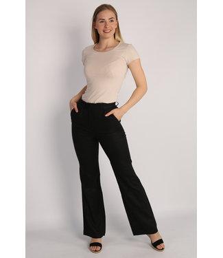 NA-KD Flared linnen pants zwart 1018-006750