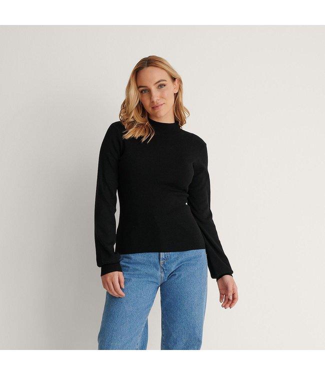 NA-KD High neck knitted polo zwart 1100-004251