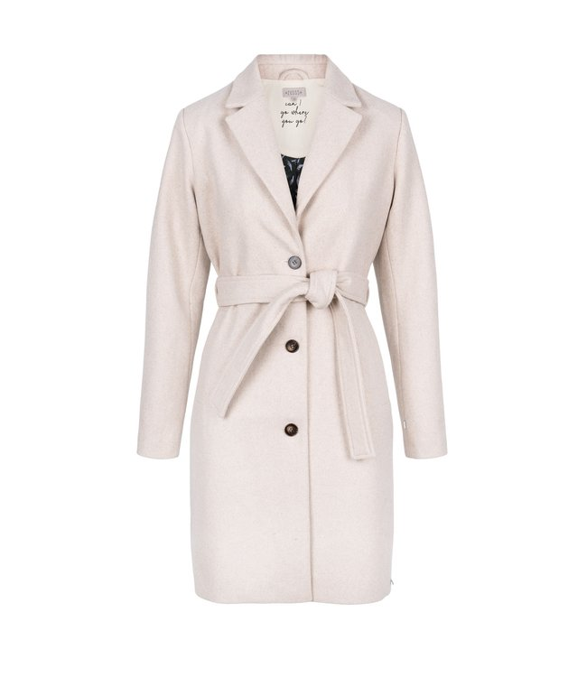 Zusss Wollige trenchcoat off white Wollige trenchcoat
