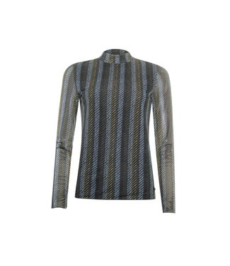 Poools T-shirt mesh blauw 133179