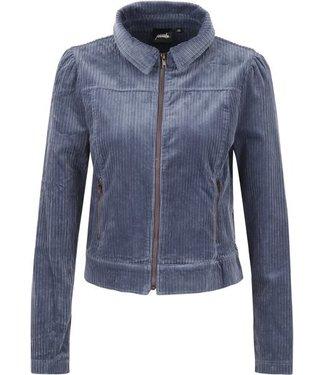 Poools Jacket rib blauw 133185