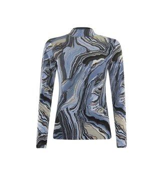 Poools T-shirt long sleeve blauw 133203