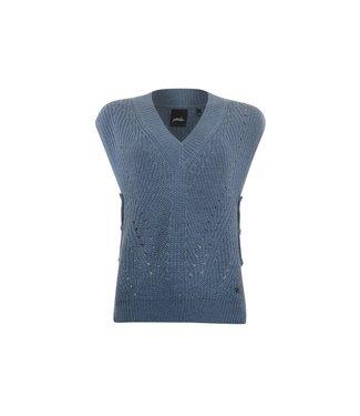 Poools Pullover sleeveless blauw 133107