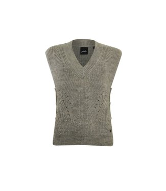 Poools Pullover sleeveless zand 133107