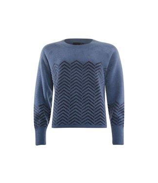 Poools Sweater blauw 13374
