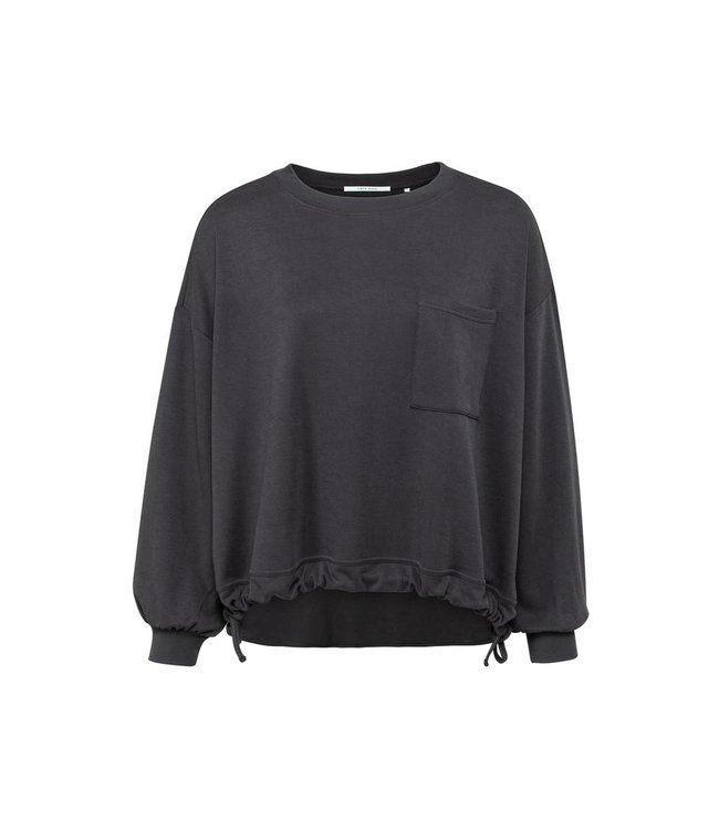 Yaya Drawstring sweater with pocket **00 1009319-121