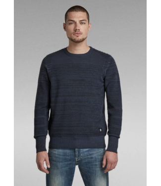 G-Star 3D biker r knit blauw D20412-C259