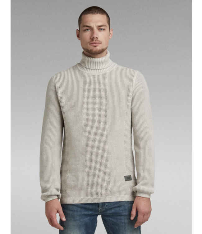 G-Star Structured turtle knit off white D20485-C259-C720