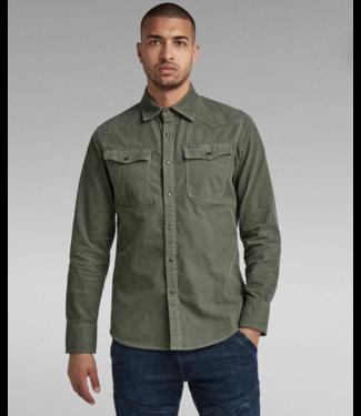 G-Star 3301 slim shirt l/s groen D17524-C436-C249