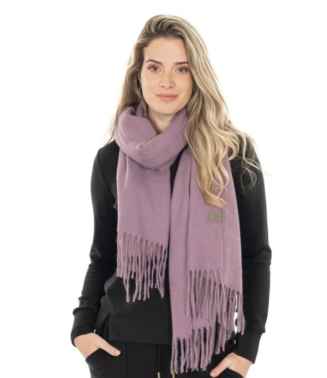 Zusss Basic sjaal met franjes paars Basic sjaal franjes