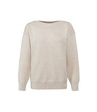 Yaya Boatneck sweater long sleeve Beige Melange 1000506-122