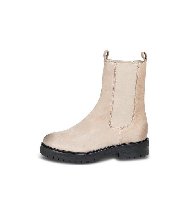 Yaya Leather boot with elastic Luna Rock Light Grey1343088-122