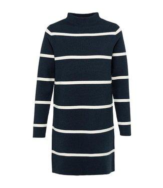 Yaya Knitted dress with stripes Carbon Dark Blue Dessin  1800371-122