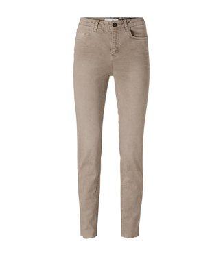 Yaya Cotton straight colored jeans Algato Ice Coffee Brown 1201201-122