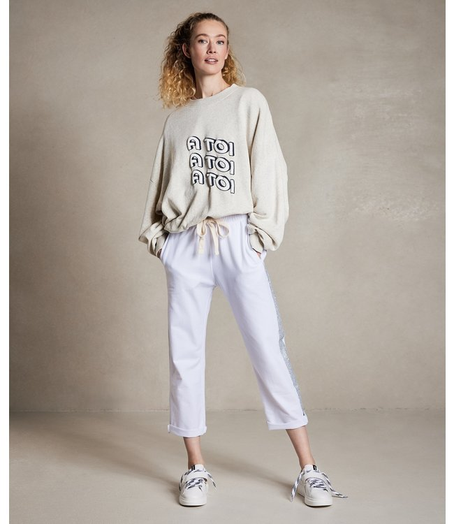 10Days Sweater a toi off white 20-801-1204