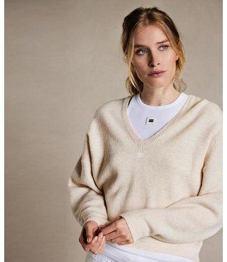 10Days V-neck sweater off white 20-611-1204